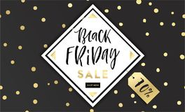 Black Friday sale inscription design template Royalty Free Stock Images