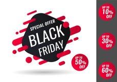 Black Friday sale. Vector illustration. Black Friday sale inscription design template, special offer, up to 10 30 50 60 off. Vector illustration stock illustration