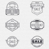 Black friday sale insignia  and labels for any use Royalty Free Stock Photo