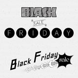 Black friday sale insignia  and labels for any use Royalty Free Stock Photography