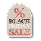 Black Friday Sale. Isolated tag. Royalty Free Stock Images