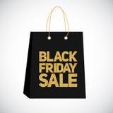 Black Friday Sale Label Bag Vector Illustration Royalty Free Stock Photos