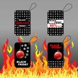 Black Friday sale label cards Stock Image