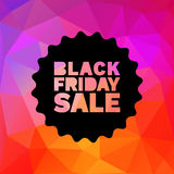 Black Friday Sale  label stamp on geometric bright Stock Images