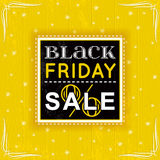Black friday sale label, vector Royalty Free Stock Photos