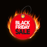 Black Friday Sale Label Vector Illustration Stock Images
