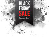 Black friday sale 2015 label. On watercolor background Stock Photos