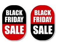 Black friday sale labels Stock Photos