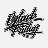 Black Friday Sale Lettering Badge Stock Photos