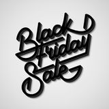Black Friday Sale Lettering Badge. Black Friday Sale handmade lettering, 3d oblique calligraphy with block blended shade and realistic shadow for logo, banners Stock Photo