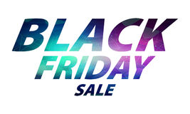 Black friday sale lettering composition. Stock Photos