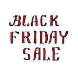 Black Friday Sale lettering Royalty Free Stock Photography