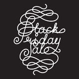 Black Friday Sale lettering Royalty Free Stock Image