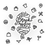 Black Friday Sale lettering Royalty Free Stock Photo