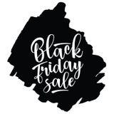 Black Friday Sale lettering. Vector illustration. Stock Image