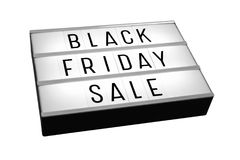 Black friday sale lightbox isolated on white royalty free stock images