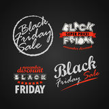 Black Friday sale logo collection. Super november sale banners v Stock Image