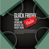 Black Friday sale marketing advertising web page template Stock Images