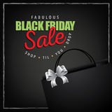 Black Friday sale marketing layout green red Royalty Free Stock Photography