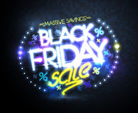 Black friday sale, massive savings poster design concept Stock Photography