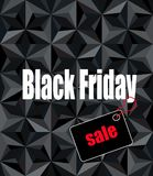 Black Friday. Sale message on modern geometric background Royalty Free Stock Photography