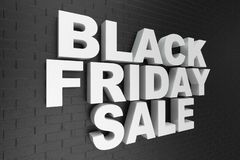 Black Friday, sale message for shop, big discount. 3d text in black and white color. Modern design. Banner for black vector illustration