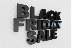 Black Friday, sale message for shop. Business shopping store banner for Black Friday. Black Friday crushing ground. 3d stock illustration