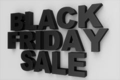 Black Friday, sale message for shop. Business shopping store banner for Black Friday. Black Friday crushing ground. 3d vector illustration