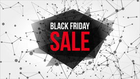 Black Friday Sale Motion Banner with Dots and Lines royalty free illustration