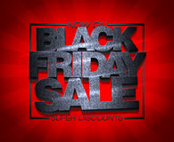 Black friday sale now on, super discounts. Royalty Free Stock Photo