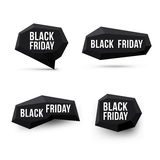 Black friday sale objects Royalty Free Stock Images