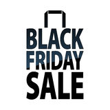 Black friday sale paper bag icon. Stock Images