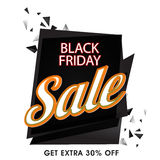Black Friday Sale Paper Banner or Tag. Royalty Free Stock Photos
