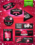 Black Friday Sale paper tags, labels and banners Stock Photo