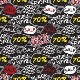Black friday sale pattern. Royalty Free Stock Photo