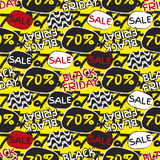 Black friday sale pattern. Royalty Free Stock Images