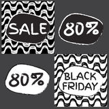 Black friday sale. Pattern. Ipanema pattern. 80% discount Royalty Free Stock Images