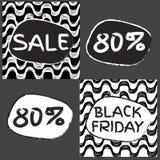 Black friday sale. Pattern. Ipanema pattern. 80% discount royalty free illustration