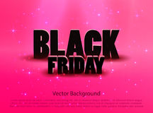 Black friday sale pink background Royalty Free Stock Image