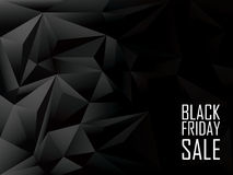 Black friday sale polygonal background. Shopping Royalty Free Stock Photo