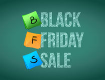Black friday sale post memo chalkboard sign Royalty Free Stock Photography