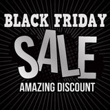 Black friday sale poster Stock Image