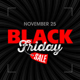 Black Friday Sale poster Royalty Free Stock Photos