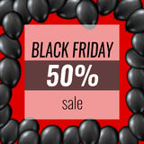 Black Friday Sale Poster Balloons Template. EPS10 Vector Stock Image