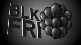 Black Friday Sale Poster Balloons Template Stock Photos