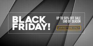 Free Black Friday Sale Poster, Banner 3D Balloons Background. Spesial Offer. Up To 50 . End Off Season. Royalty Free Stock Photography - 164350687