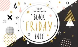 Black Friday sale inscription design template Stock Photos