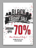 Black Friday Sale Poster, Banner or Flyer. Stock Images