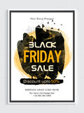 Black Friday Sale Poster, Banner or Flyer. Royalty Free Stock Photos