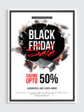 Black Friday Sale Poster, Banner or Flyer. Stock Photography